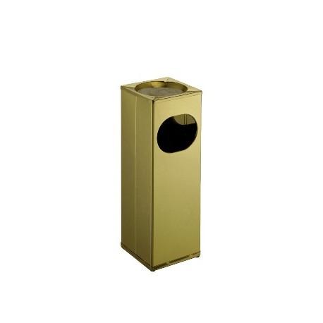 Square ashtray/paper bin in polished brass